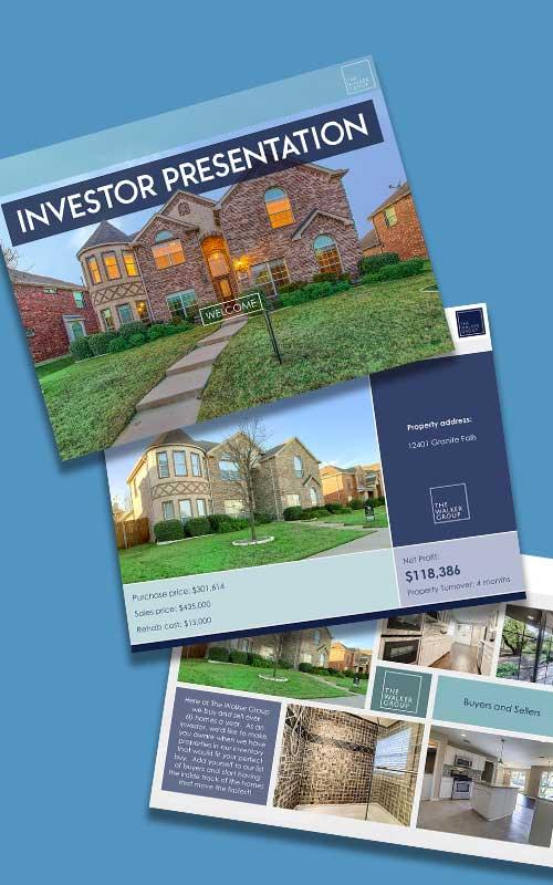 real estate investor presentation slide samples