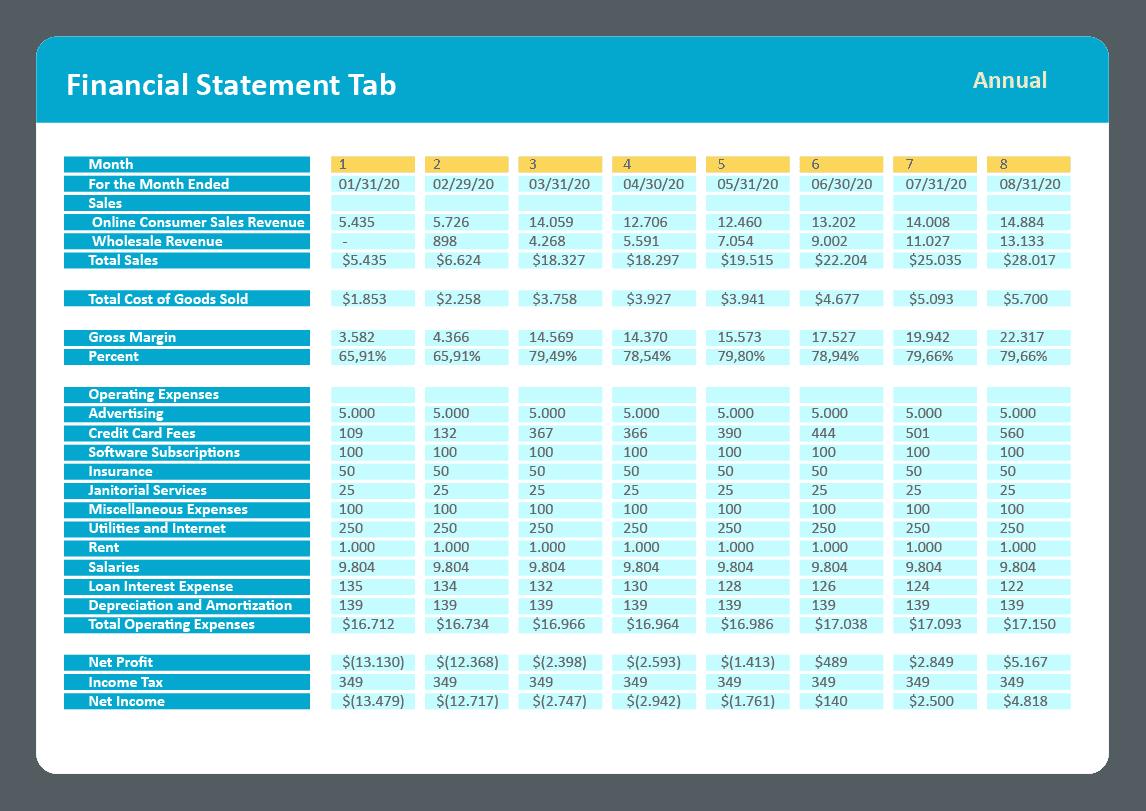 ProjectionHub financial statement